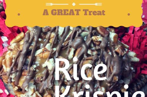 Chocolate Pecan Turtle Rice Krispie Bars
