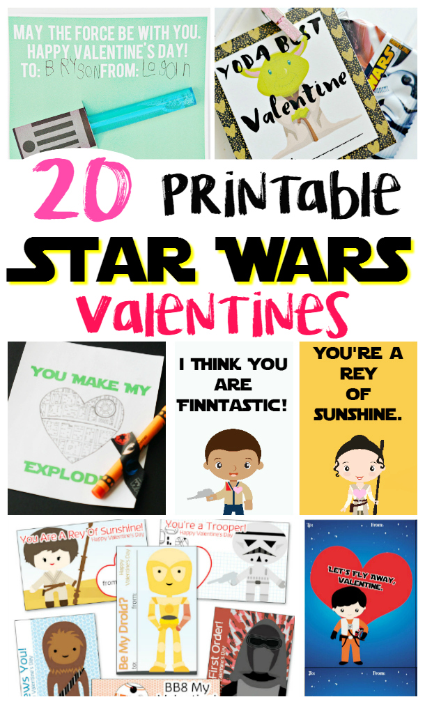 image about Printable Star Wars Valentine named 20 Printable Star Wars Valentines - Thrifty Mommas Guidelines