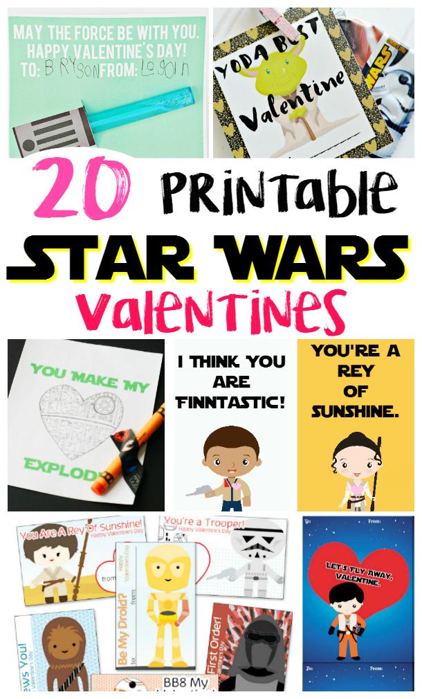 photograph regarding Printable Star Wars Valentine titled 20 Printable Star Wars Valentines - Thrifty Mommas Guidelines