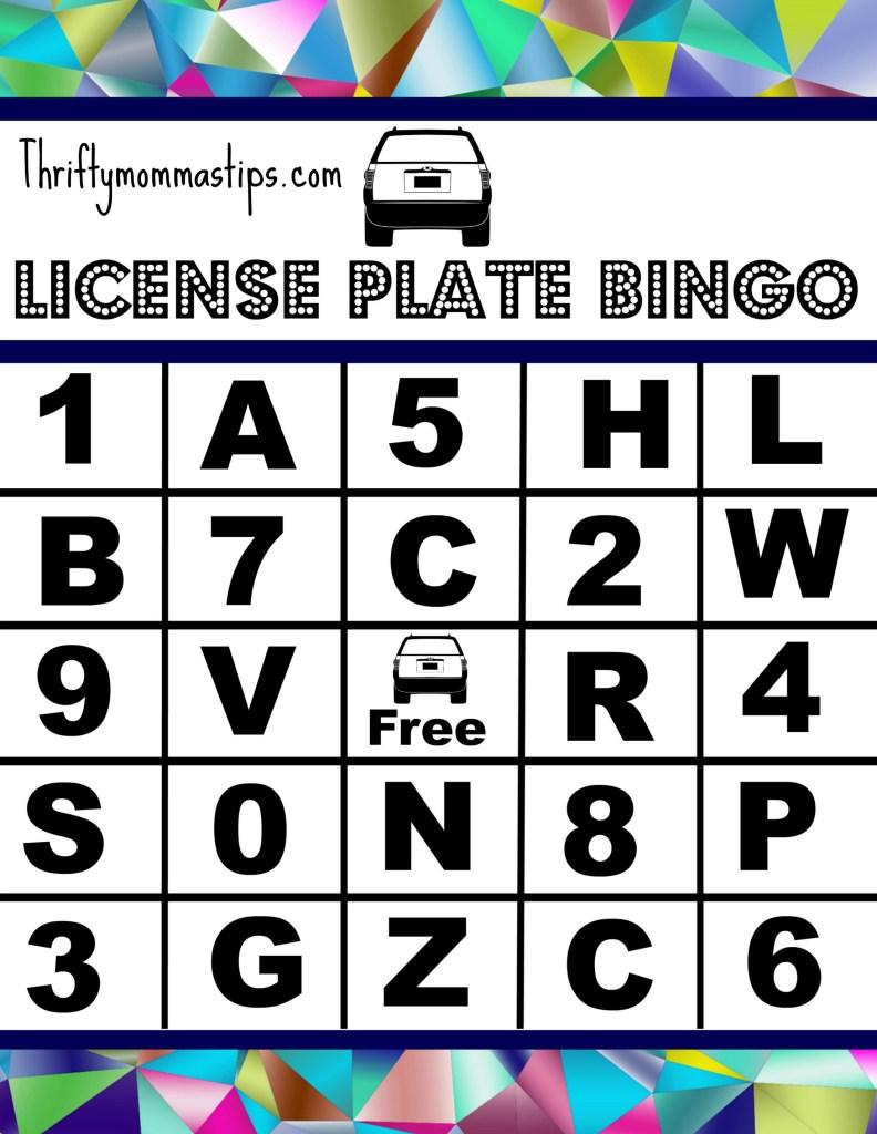 license_plate_bingo