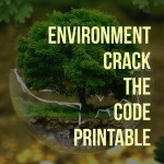 Earth Day Crack The Code Printable for Kids Age 5 and Up