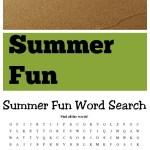 Free Summer Fun Word Search Printable