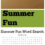 Free Summer Fun Word Search Printable