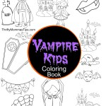 Vampire Kids Coloring Book Activity