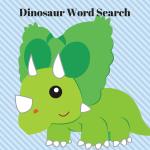 Cute Kid's Dinosaur Word Search