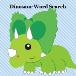Cute Kid's Dinosaur Word Search