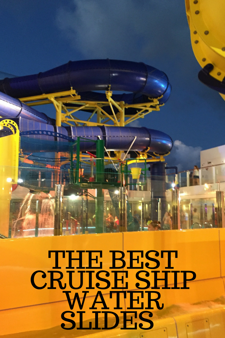 the best cruise ship water slides in the world thrifty mommas tips
