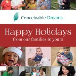 Happy Holidays From Conceivable Dreams Families #IVF4ON