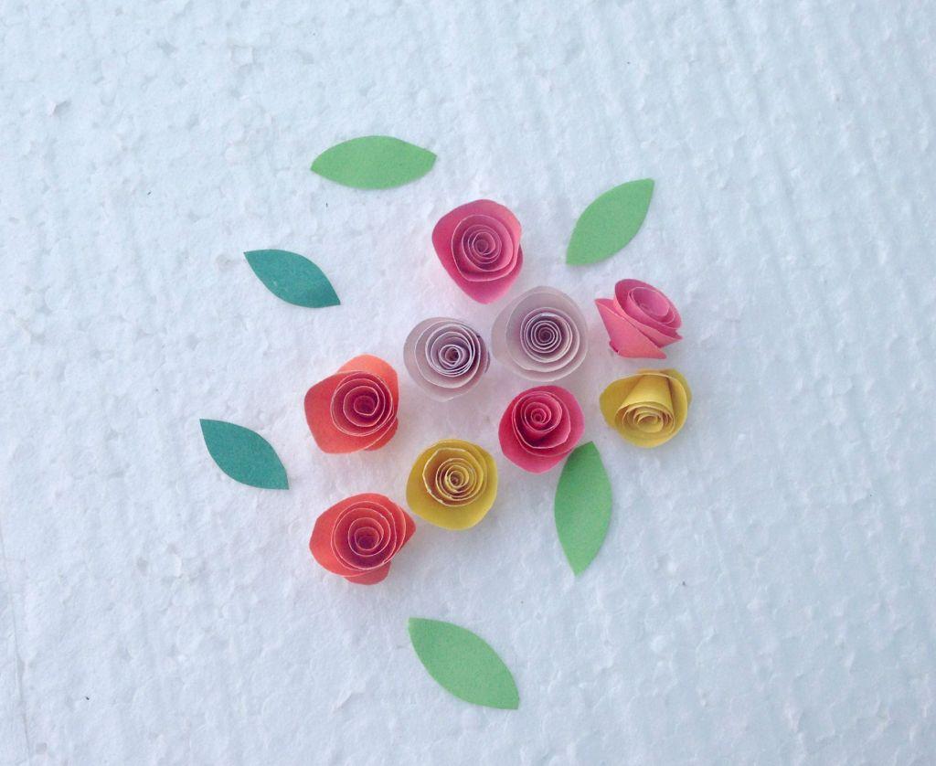 Quilling Roses Paper Basket