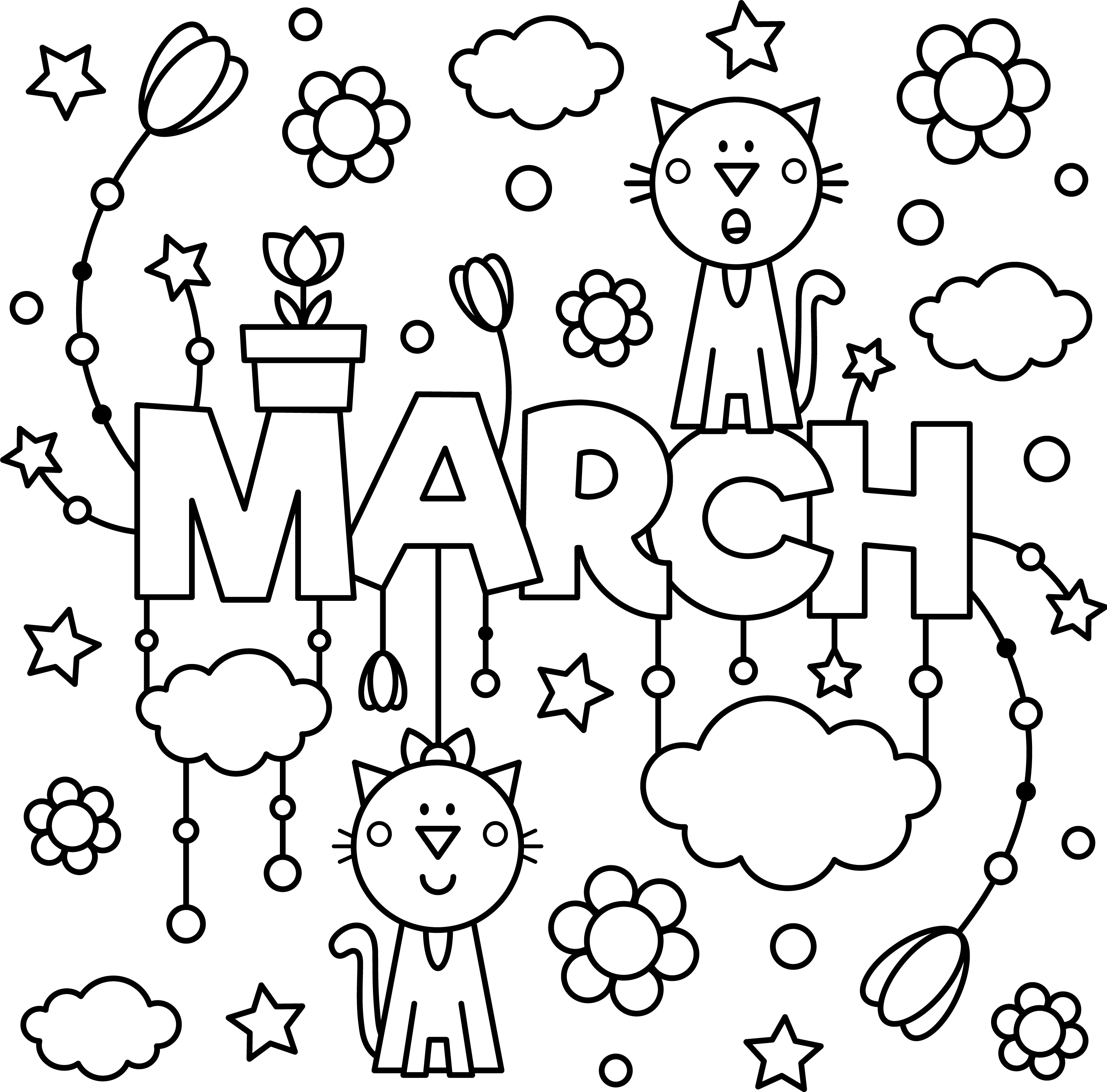 March Colouring Page To Enjoy Thrifty Mommas Tips