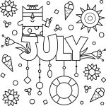 My Favourite Month – July Colouring Page Printable