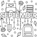 Happy September Colouring Page