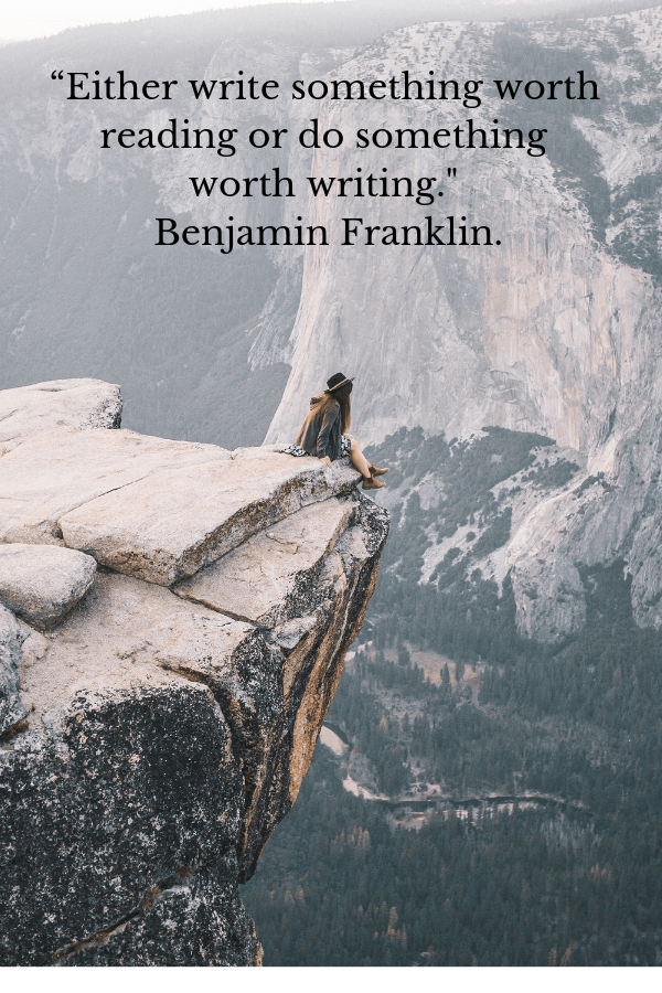 benjamin_franklin_quote_young_traveler_sitting_on_cliff