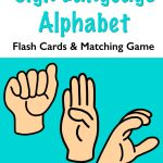 Sign Language Flash Cards and Memory Game