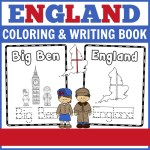 England Coloring and Printing Book for Kids