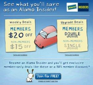 FREE Alamo Insider Club - Car Rental Deals (10% Off & More) - Thrifty NW Mom