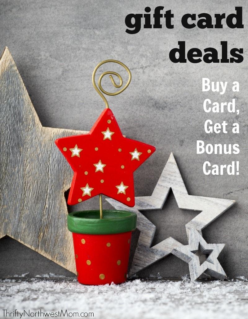 Gift Card Bonus Deals Roundup Northwest Amp National