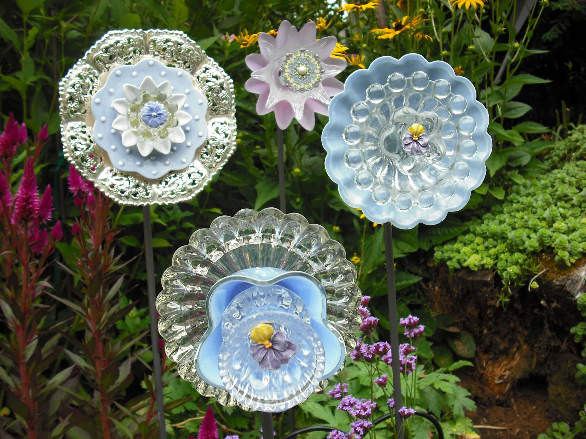 Using Recycled Glass To Make Flowers  DIY Glass Flowers  Thrifty NW Mom