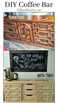 DIY Coffee Bar - Create Extra Counter Space by Converting ...