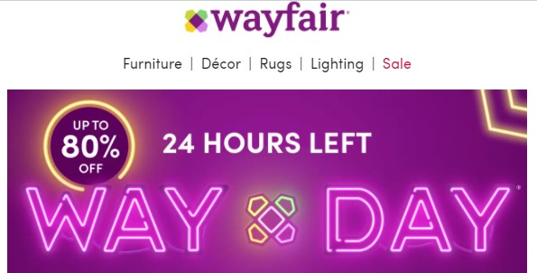 wayfair clearance sale prices slashes