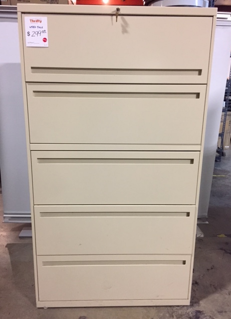 """36""""W Five Drawer Lateral File Cabinet (120116A)"""