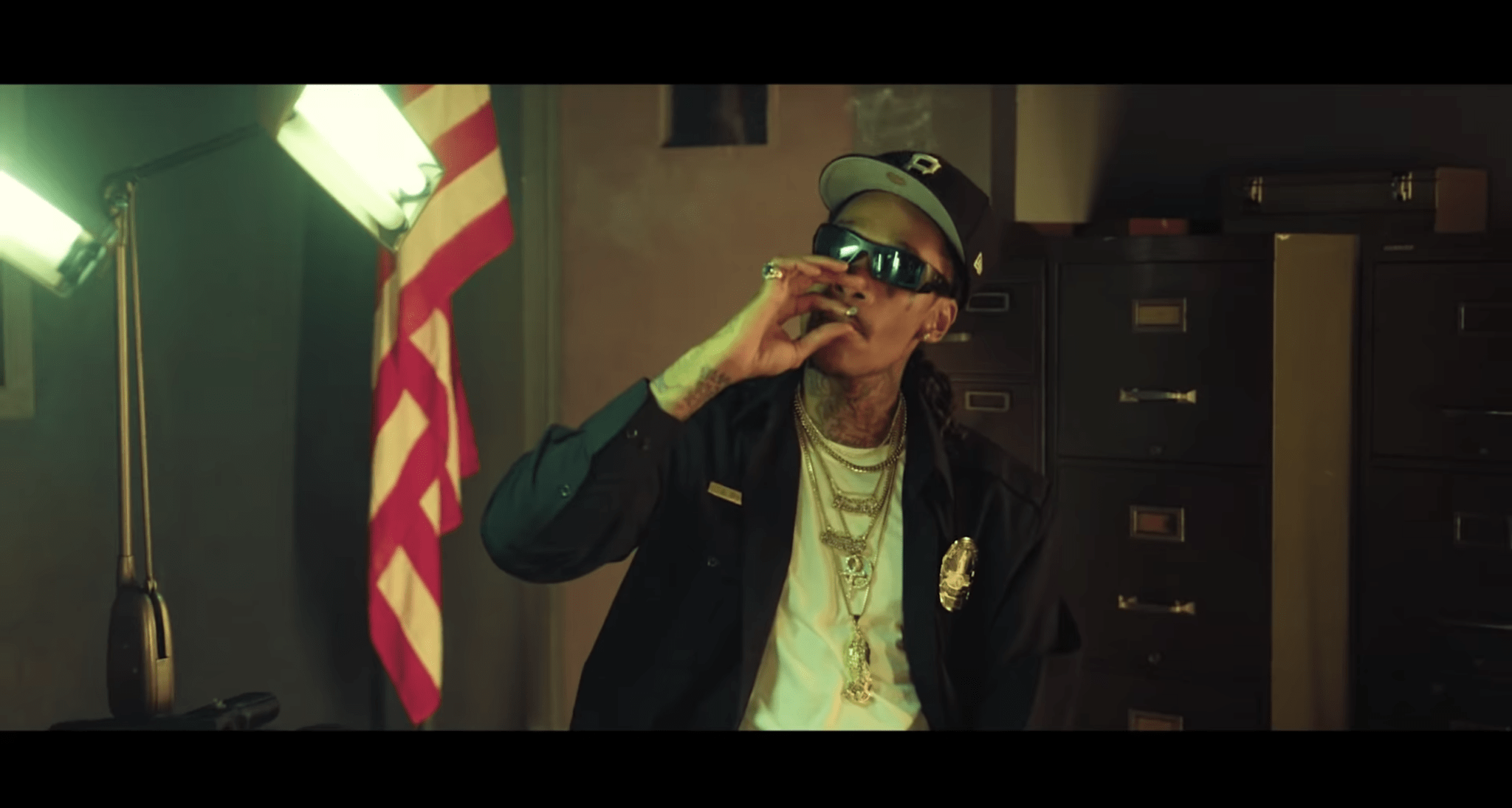 Wiz Khalifa In 911 video with police costume