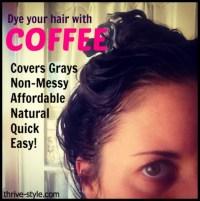 Darken Your Hair Naturally With Coffee Youtube Dark Brown ...