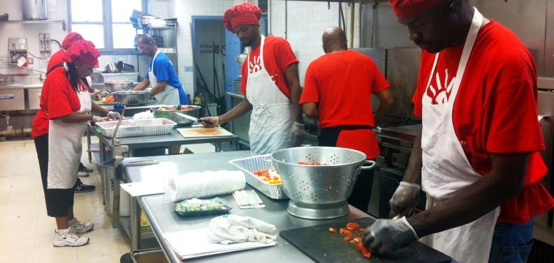 Employment Trainees in the Kitchen