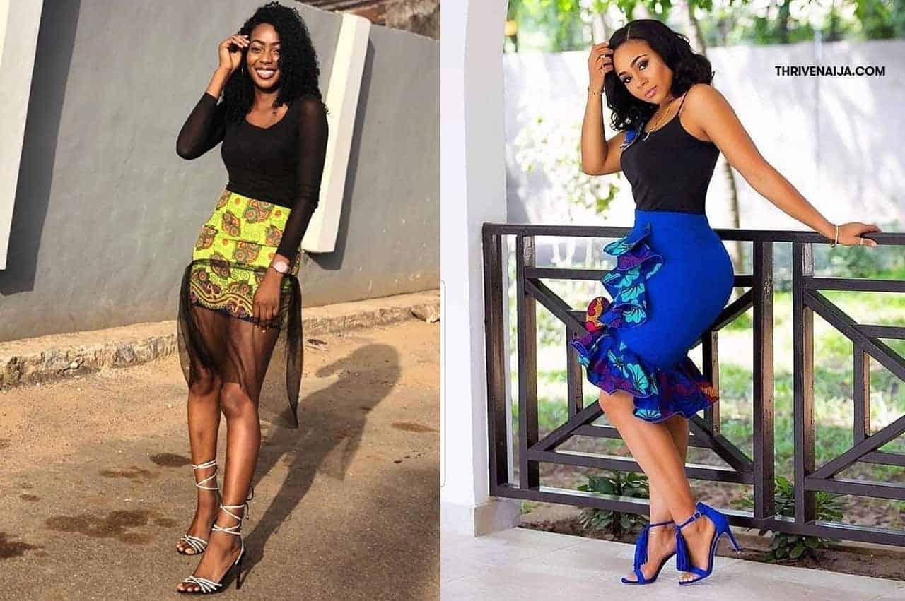 bff71aa1b22 Latest Ankara High Waist Skirts