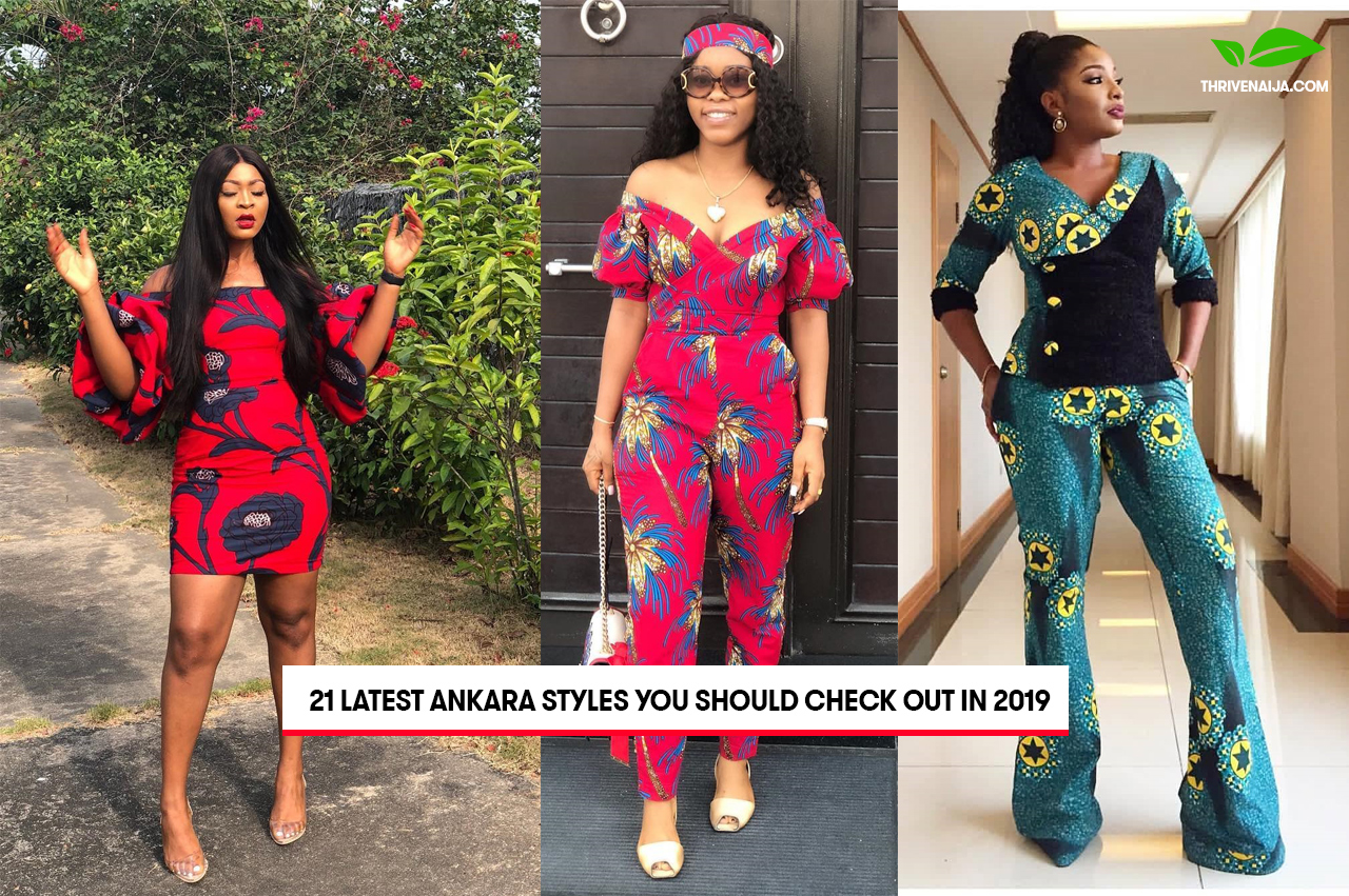 Ankara Gown Style: Jeans Gown With Ankara Styles