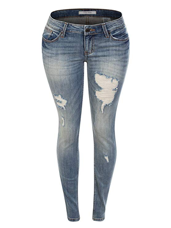 Instar Mode Women's Sexy Stylish Flare Bell Bottom Slim Bootcut Jean