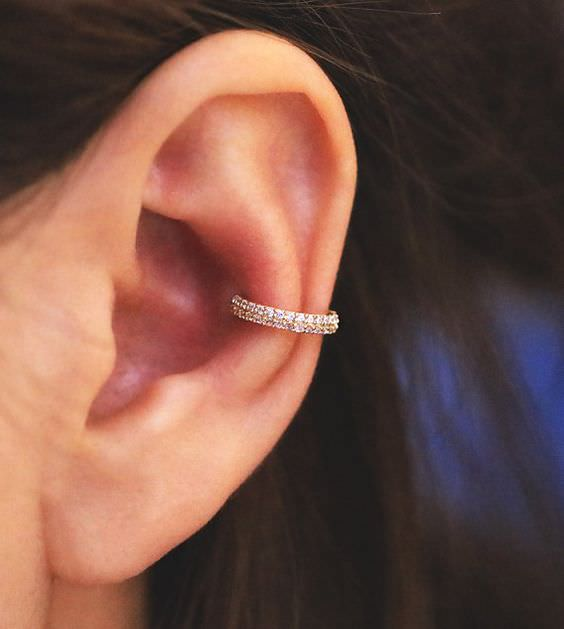 Outer Piercing With Studs And Hoops