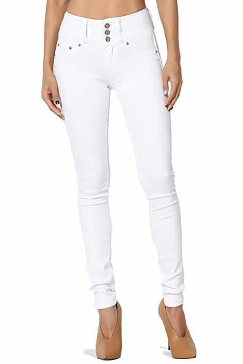 TheMogan Curvy Butt Elastic Waist Band Stretch Soft Denim Skinny Jeans