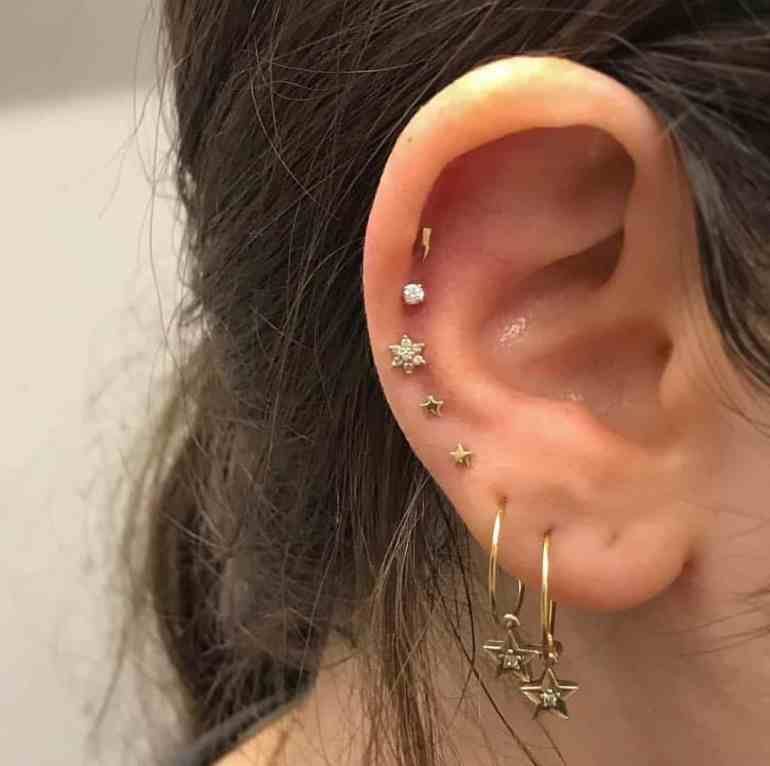 Inner And Outer Conch Piercing