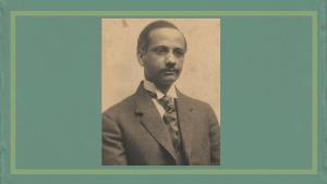 Dr. Solomon Carter Fuller on dark sea green background with a light green outline.