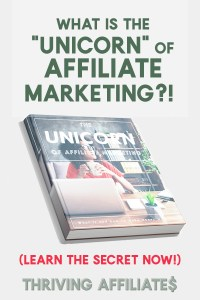 """What is the unicorn of affiliate marketing? Find out in this free report. You're leaving money on the table every month you're not using these """"unicorns""""!"""