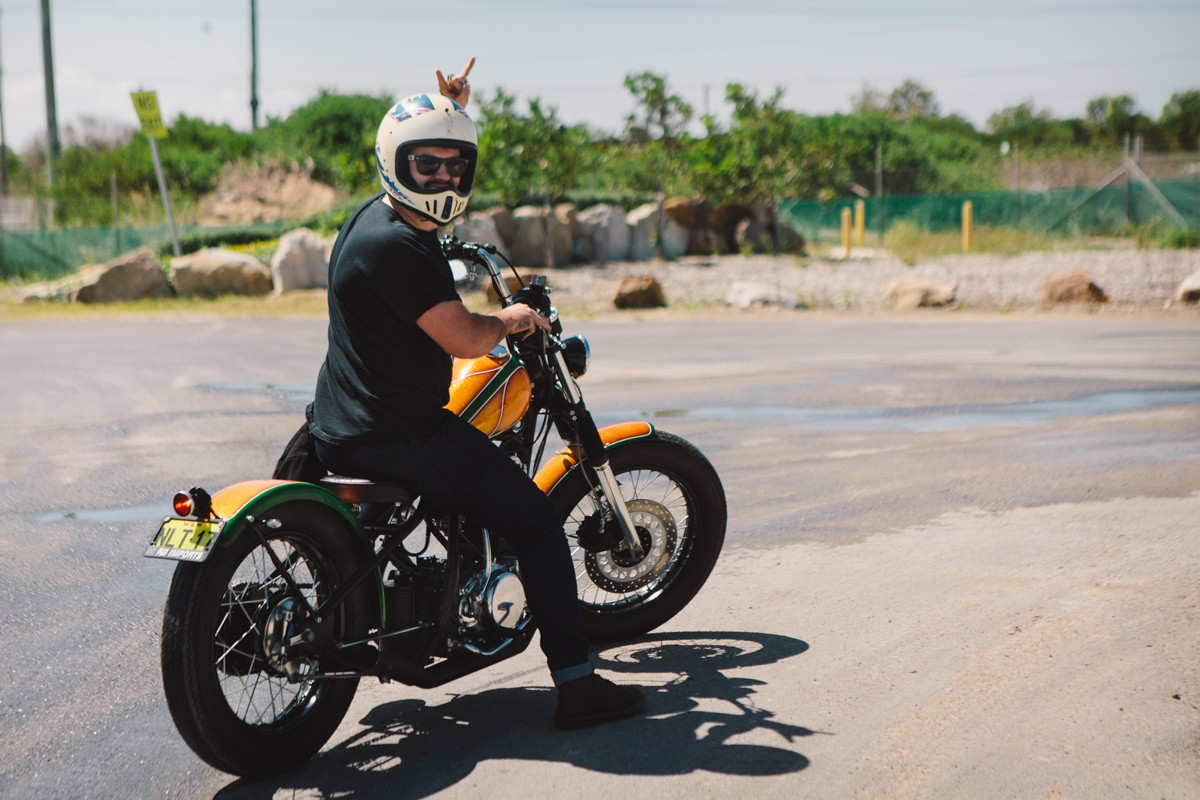 wheel chair for sale vintage chrome table and chairs resurrected – yamaha sr400 bobber | throttle roll