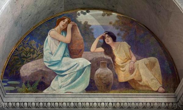 lounging women