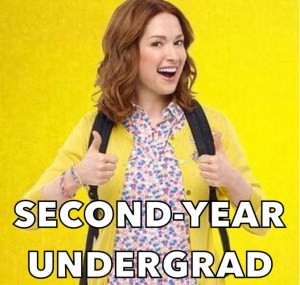 throwcase second year undergrad kimmy schmidt