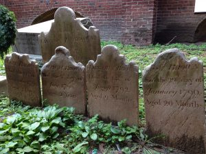 photo of gravestones in Westminster Cemetery