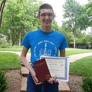 Congratulations to State High School Bible Drill Winner!