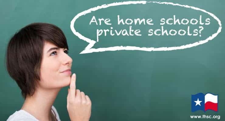 Are homeschools private schools?