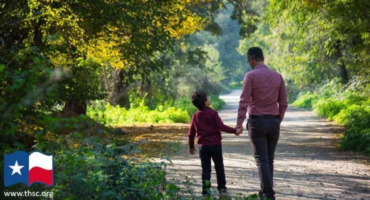 father-son-walk-talk