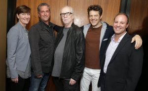 Image Credit: Eric Charbonneau Shown, left-right: Zanne Devine (Miramax), Malek Akkad, John Carpenter, Jason Blum, David Thwaites (Miramax)