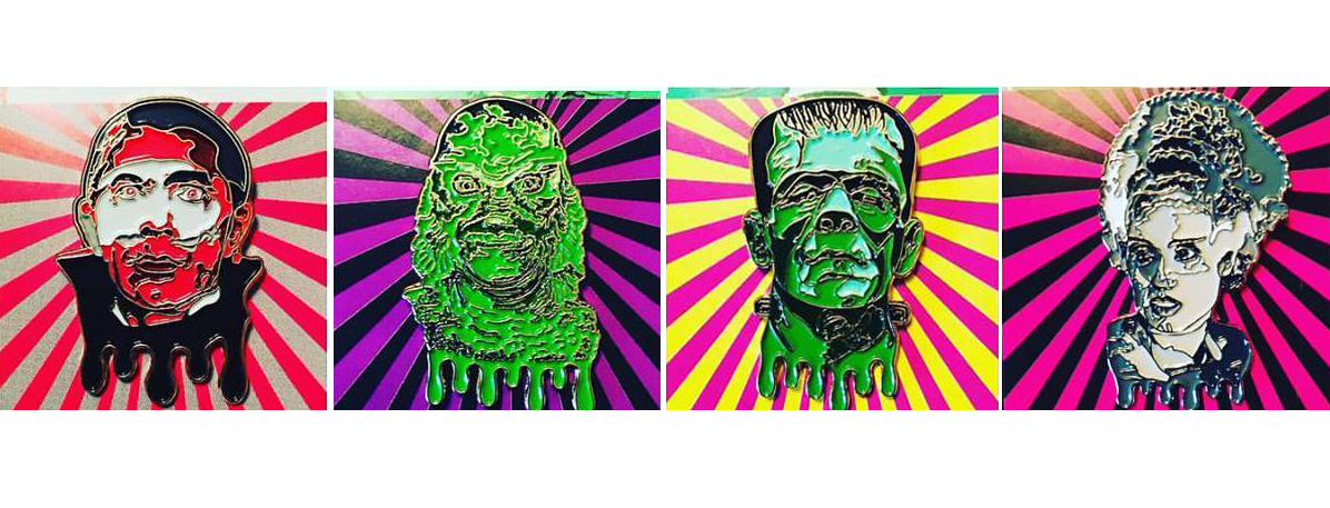These Universal Monsters Limited Edition pins are terrifyingly awesome!