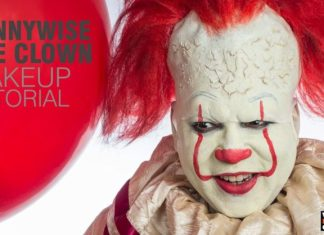 Pennywise Clown Make-Up Tutorial