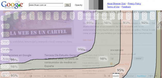 Captura de Google Browser Size