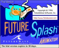 Future Splash Animator, la primera versión de Flash