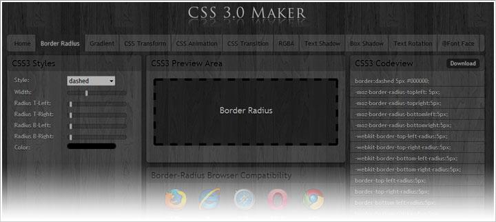 CSS3 Maker: Generador online de CSS3