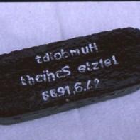 Brikett der letzten Schicht am 24.6.1966